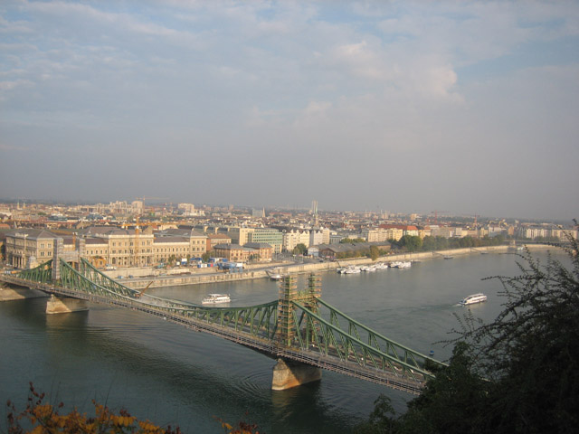 The Denube River from Buda looking to Pest