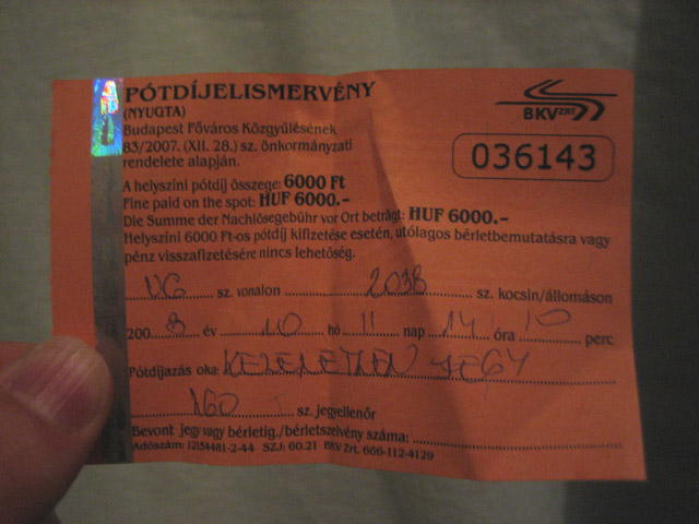 Our fine ticket, shiny and ominous at the same time