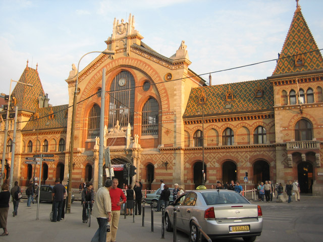 The market facade