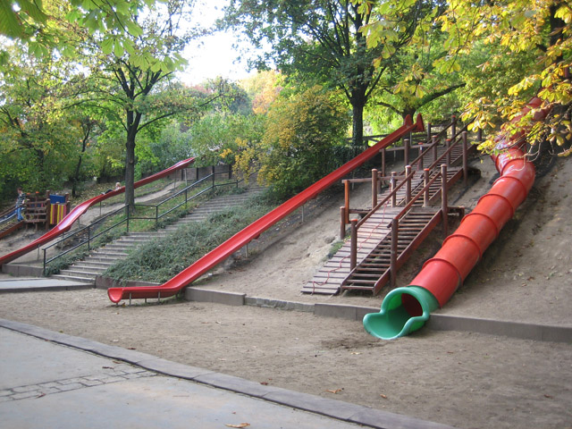 The coolest slides I've ever seen. There is no way any Minneapolis City Park