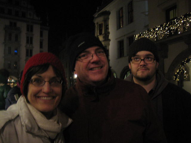 Once we left beautiful Switzerland, we drove back to Munich on New Year's Eve. Once we got settled into our hotel, we headed out to one of the most famous brewhouses in Munich (and maybe...THE WORLD...).