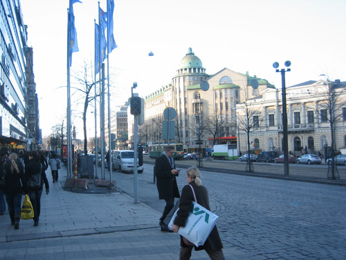 Helsinki is a small, friendly city, with not to many tall buildings. Many of the standing historic buildings were built during the Russian occupation during the 1700s to the early 1900s.
